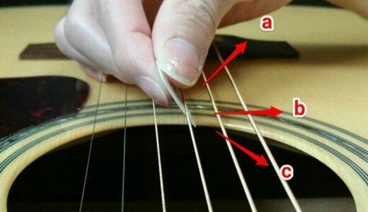 【ギターのピックがズレる時】の原因と対策