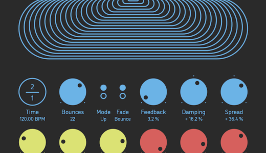 ボールが跳ねるような独特の効果を生み出すディレイ・プラグイン!Sinevibes【Dispersion v2】の使い方&レビュー