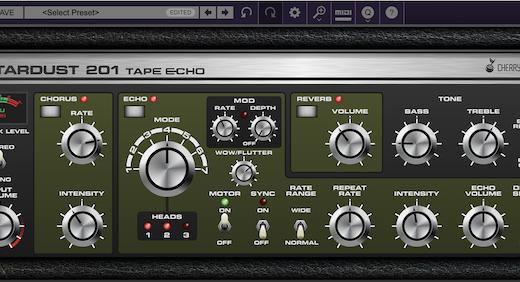 Rolandのテープエコー「Space Echo」を再現+αしたエフェクト・プラグイン!Cherry Audio【Stardust 201 Tape Echo】の使い方&レビュー